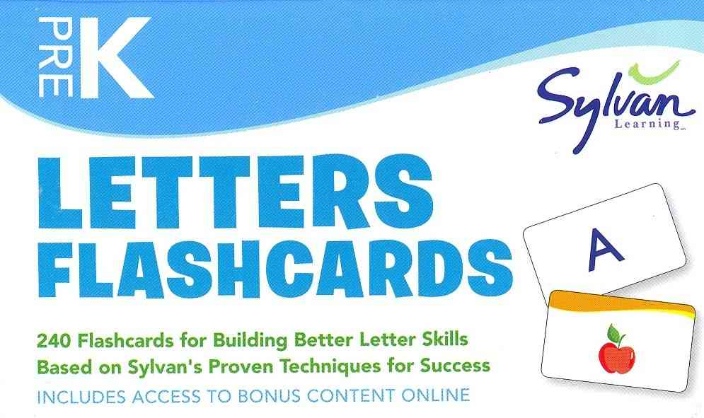 Pre-K Letters Flashcards By Sylvan Learning (COR)